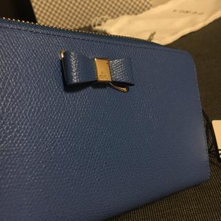 フルラ(Furla)のフルラ Asia リボン長財布 ブルー(長財布)