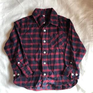 ムジルシリョウヒン(MUJI (無印良品))の無印良品 キッズ フランネルシャツ サイズ110(ブラウス)