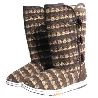 アディダス(adidas)の新品●23.5cm アディダス・ハイカジュアル茶ブーツ(ブーツ)