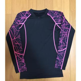 ハマー(HUMMER)のHUMMER ハマー 発熱クルーネックシャツ 黒 ピンク M(Tシャツ/カットソー(半袖/袖なし))
