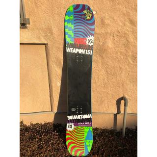 ケーツー(K2)のスノーボード 板 K2 www ワールドワイドウエポン 151 グラトリ (ボード)