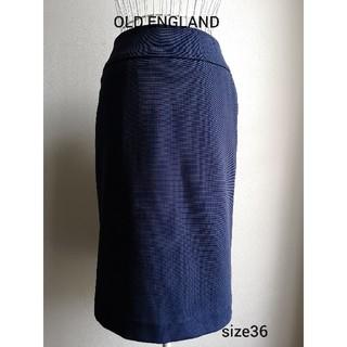 オールドイングランド(OLD ENGLAND)の未使用 OLD ENGLAND 美ラインストレッチスカート(ひざ丈スカート)