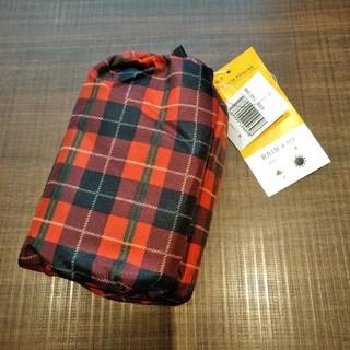 新品未使用 定価3132円 チェック柄 キッズ レイン&UV ポンチョ(レインコート)