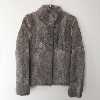 アナイ(ANAYI)のANAYI アナイ ラビットファーコート ファージャケット 36サイズ グレー(毛皮/ファーコート)