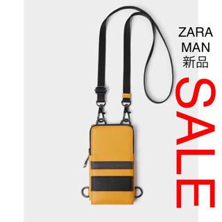 ザラ(ZARA)のZARA MAN 携帯電話 バック ジッパー仕様 イエロー(その他)