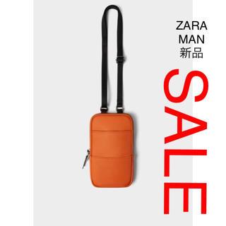 ザラ(ZARA)のZARA MAN 携帯電話 バック オレンジ(その他)