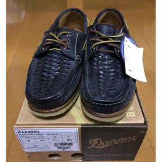 ダナー(Danner)の新品 定価2万ダナー  デッキシューズ ブラック サイズ26cm  (デッキシューズ)