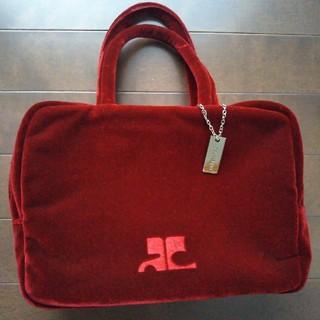 Courreges - クレージュ 赤ハンドバッグ