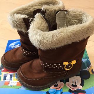 ディズニー(Disney)のディズニー ボア付きブーツ 17センチ(ブーツ)