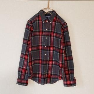 ジムフレックス(GYMPHLEX)のジムフレックス チェック ボタンダウンシャツ 12 グレー系(シャツ/ブラウス(長袖/七分))