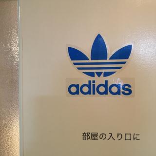 アディダス(adidas)の【新品】adidasステッカー  縦16.3 横16.7(しおり/ステッカー)