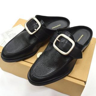 エンダースキーマ(Hender Scheme)の新品 Hender Scheme clasp レザーミュール シューズ 24cm(ローファー/革靴)