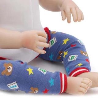 赤ちゃん レッグウォーマー 膝当て 擦りむき防止 膝保護 可愛い 防寒 保温 (レッグウォーマー)