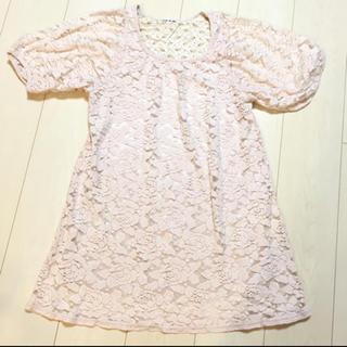 クレドソル(CLEF DE SOL)の花刺繍 ワンピース(ひざ丈ワンピース)