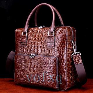 dd3e101531a1 多機能ワニ革本革クロコダイルスキン ハンドバッグ メンズ ビジネスバッグ(その他)