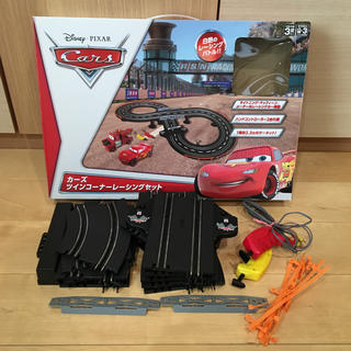 ディズニー(Disney)のカーズ ツインコーナーシングセット(ジャンク品)(電車のおもちゃ/車)