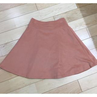 エムプルミエ(M-premier)の美品 ウールフレアスカート(ひざ丈スカート)