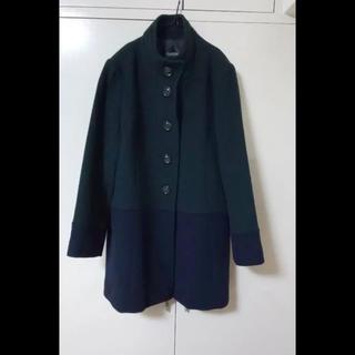 ローラアシュレイ(LAURA ASHLEY)のコート  バイカラーコート   大きいサイズ(ピーコート)