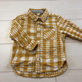 ムジルシリョウヒン(MUJI (無印良品))のMUJI フランネルチェックシャツ/90cm(ブラウス)