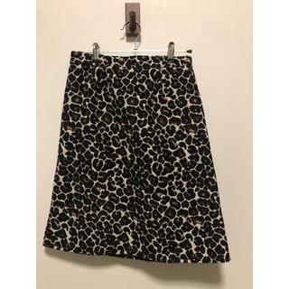 シンプリシテェ(Simplicite)のレオパード柄Aラインスカート(ひざ丈スカート)