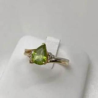 ジュエリーマキ(ジュエリーマキ)のK18 Pt850 リング ペリドット メレダイヤ 15号 18-3653(リング(指輪))