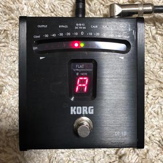 コルグ(KORG)の【値下げ!】KORG チューナー DT-10 ブラック(エフェクター)