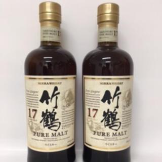 ニッカウイスキー(ニッカウヰスキー)の竹鶴17年700ml 2本セット(ウイスキー)