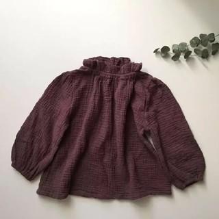 ザラキッズ(ZARA KIDS)のスタンドフリルブラウス 90 韓国子供服(ブラウス)