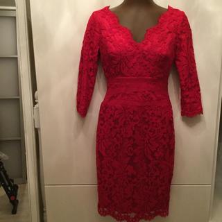 TADASHI SHOJI - お値下げ❣️タダシショージ希少サイズ0  ・真紅ワンピースドレス。