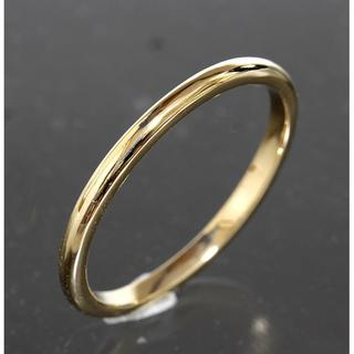 ティファニー(Tiffany & Co.)のティファニー TIFFANY&CO.シンプル リング 18号 K18YG 仕上済(リング(指輪))