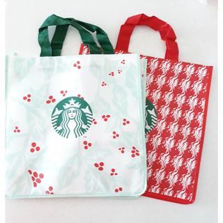 Starbucks Coffee - 韓国 スタバ エコバッグ 2種