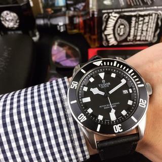 チュードル(Tudor)のレザーベルト Tudor チュードル メンズ 腕時計 ファッション(レザーベルト)