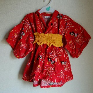 ディズニー(Disney)のミッキー ミニー 浴衣(甚平/浴衣)
