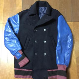 シャンティ(SHANTii)の日本製 SHANTii Lサイズ ピーコート スタジャン ジャケット 袖革 (レザージャケット)