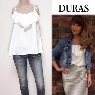 DURAS - DURAS ▶︎ベーシック フリルキャミソール♡リップサービス エゴイスト