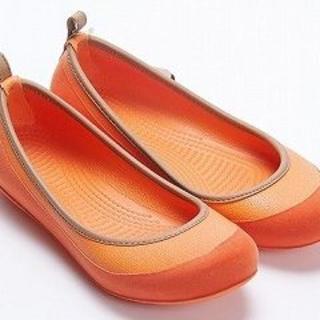 チル(ccilu)のチル ccilu-napa オレンジ 22cm(バレエシューズ)