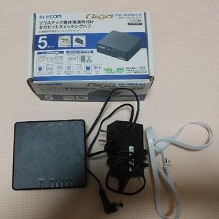 エレコム(ELECOM)のエレコム スイッチングハブ 5ポート EHC-G05PA-B-K(PC周辺機器)