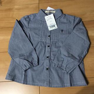 ファミリア(familiar)の新品 ファミリア チェックシャツ 110cm(ブラウス)