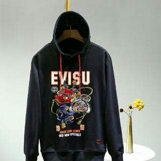 エビス(EVISU)のエヴィスEVISU ジャケット パーカー ブラック(パーカー)