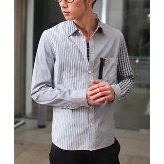 ダブルジェーケー(wjk)の数回着用24840円 wjk パターンドレスシャツ AKMジュンハシモト(シャツ)