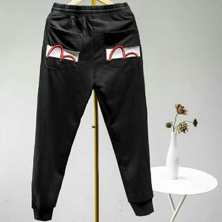 エビス(EVISU)のEVISU カジュアルパンツ ズボン ブラック メンズ(サルエルパンツ)