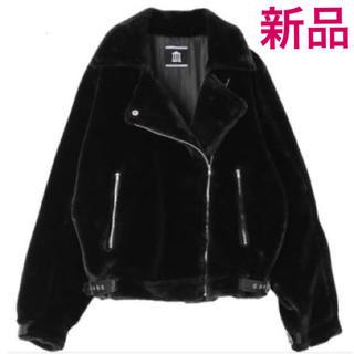 パメオポーズ(PAMEO POSE)の新品完売品 パメオポーズ ファーライダースジャケット(ライダースジャケット)