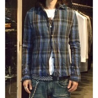 ダブルジェーケー(wjk)の定価41040円 wjk シワ加工フックチェックシャツ AKMジュンハシモト(シャツ)