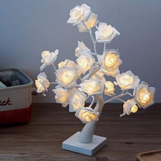 即買いOK★花ランプ 24個LED タイマー機能 USBと乾電池両方対応(その他)