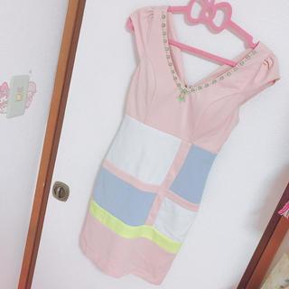 デイジーストア(dazzy store)のローブドフルール キャバドレス ドレス ピンク ナイトドレス 袖あり キャバ(ナイトドレス)