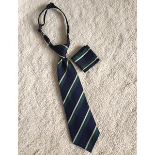 グリーンレーベルリラクシング(green label relaxing)のグリーンレーベル キッズネクタイ ポケットチーフ セット(ドレス/フォーマル)
