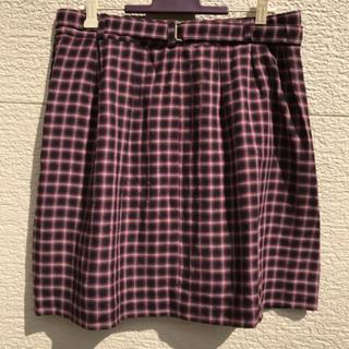 マカフィー(MACPHEE)のMACPHEE マカフィー スカート 赤 黒 グレー ブラック 36(ひざ丈スカート)