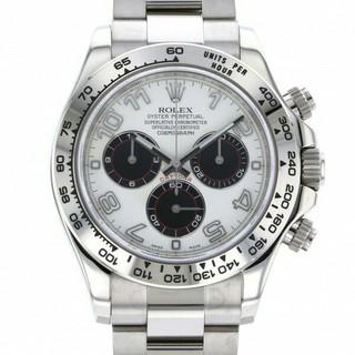 ロレックス(ROLEX)のロレックス ROLEX デイトナ  ホワイト/ブラック文字盤 メンズ 腕時計 (腕時計(デジタル))