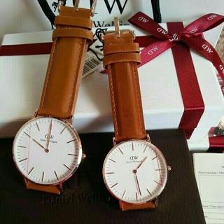 ダニエルウェリントン(Daniel Wellington)のプレゼントに!【ライトブラウン 40mm&36mm】ダニエルウェリントン 腕時計(腕時計(アナログ))