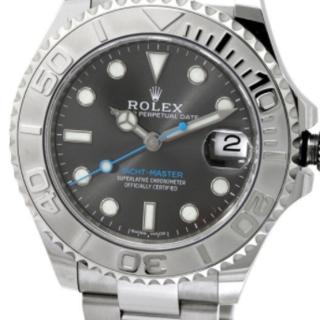 ロレックス(ROLEX)のROLEXロレックス ヨットマスターロレジウム 中古ROLEX 腕時計 (腕時計(アナログ))
